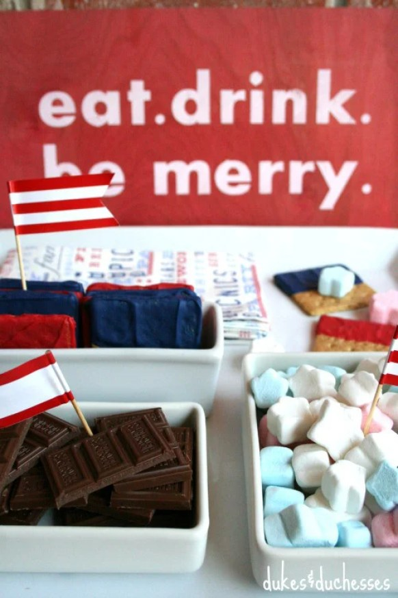 Smore's-Bar-July-4 fourth of july party ideas