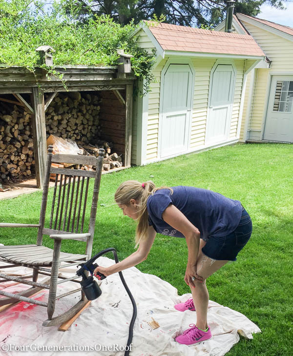 How to spray paint a rocking chair with a HomeRight Paint Sprayer