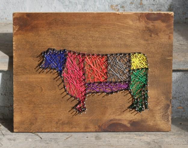 kitchen-cow-string-art