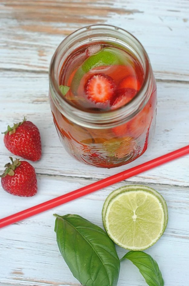 strawberry-lime-basil-infused-water
