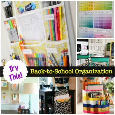 TRY THIS: Back to School Organization