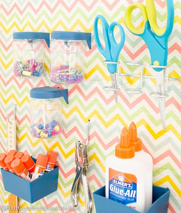 How to create a Back to school peg board organization wall