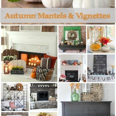 TRY THIS: Decorate a Fall Mantel or Vignette