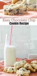 Easy chocolate chip cookie recipe. A family of four generations living under one roof makes cookies together on a rainy cold Saturday night. What a great tradition!