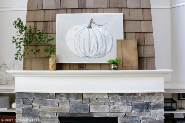 handpainted-pumpkin-simple-mantel