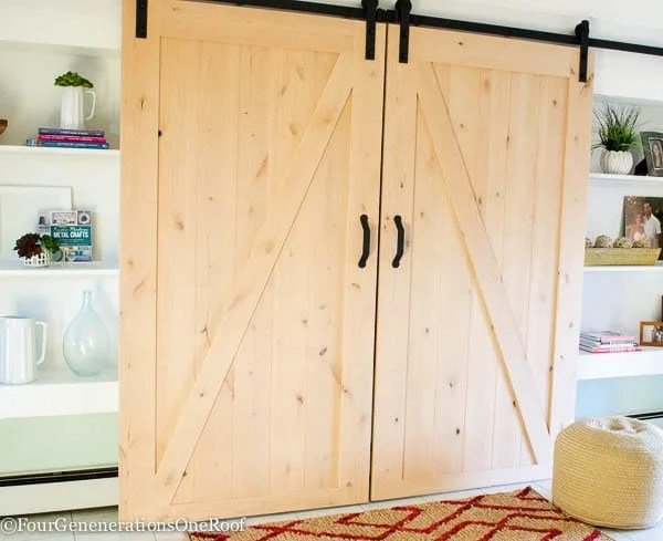 Our Diy Sliding Barn Doors Tutorial Four Generations One Roof