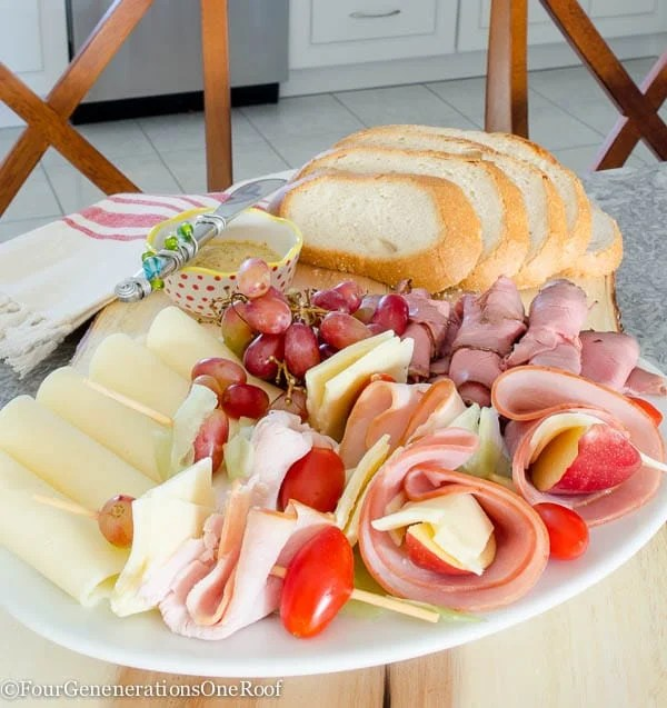 how to make a quick meat and cheese platter filled with premium meats and cheeses