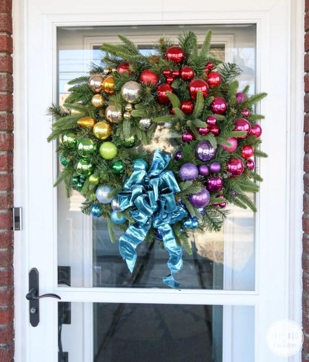 rainbow-holiday-wreath