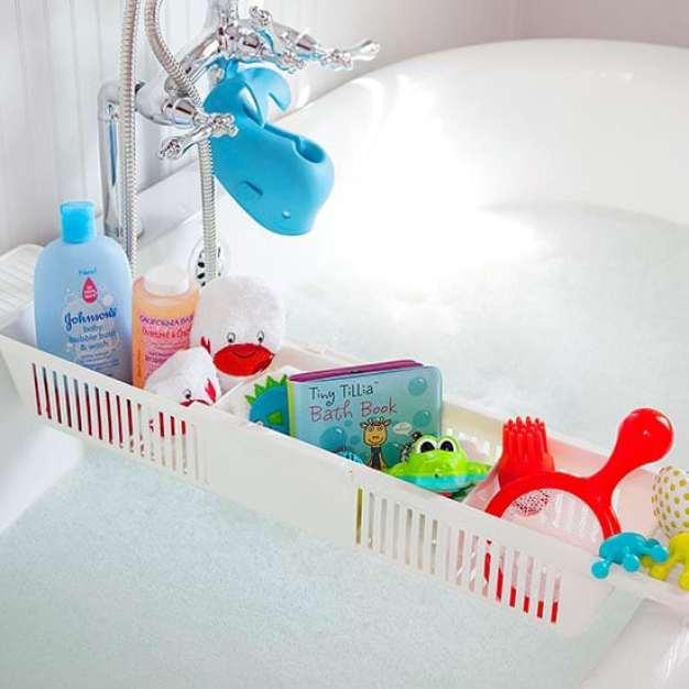 36 Tips for Getting Organized in 2016 bath-toy-storage
