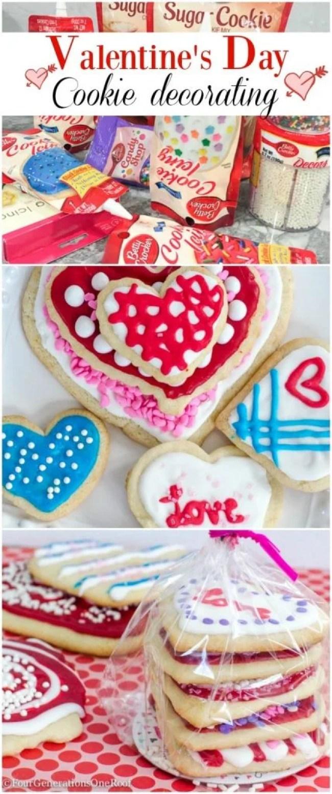 Decorating Valentine's Day Cookies