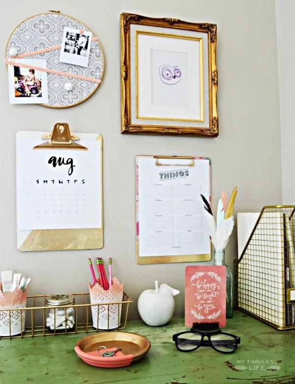 14 Fabulous Office Organization Ideas / Stylish Organization Ideas | High Style, High Function, Low Cost Workspace Ideas featured on Four Generations One Roof