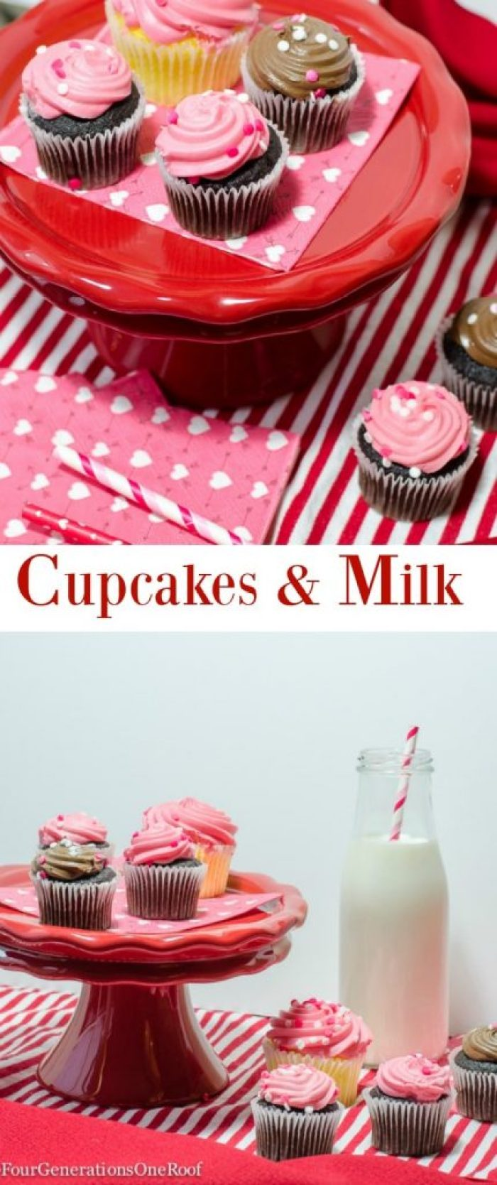 cupcakes and milk jars / host a cupcake party with fun milk cars and cake tiered platters