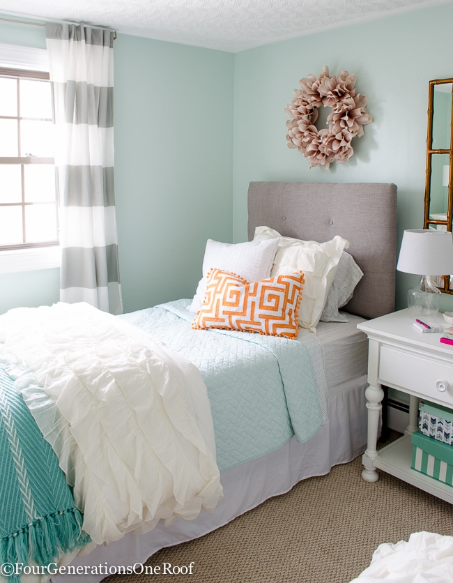 Girl bedroom makeover resource list - Four Generations One Roof