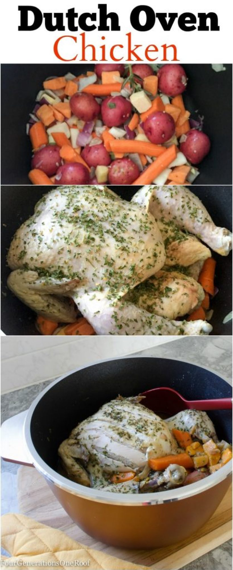 dutch oven chicken / How to cook chicken in a dutch oven