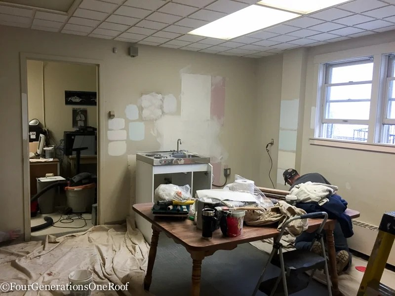 Break Room Makeover : gutting the police station - police station makeover