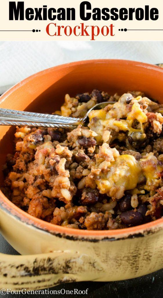 mexican casserole - crockpot