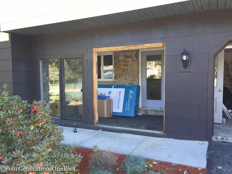 how to install a door / Installing new doors foyer renovation-29