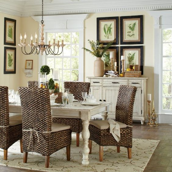 modern coastal farmhouse dining room
