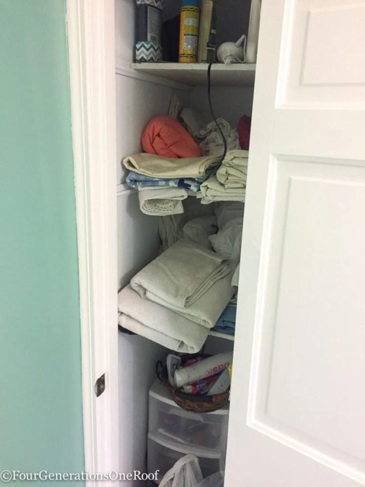 Mini-Bathroom Makeover {Closet Makeover}