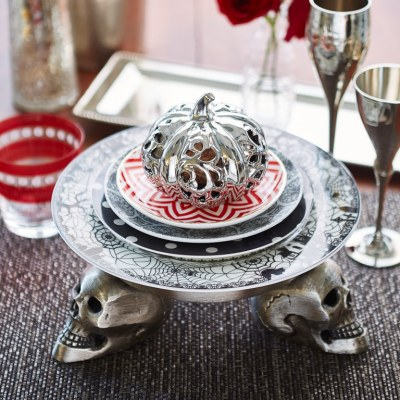 Halloween Place settings 3 Ways + Video {HomeGoods Shoot}