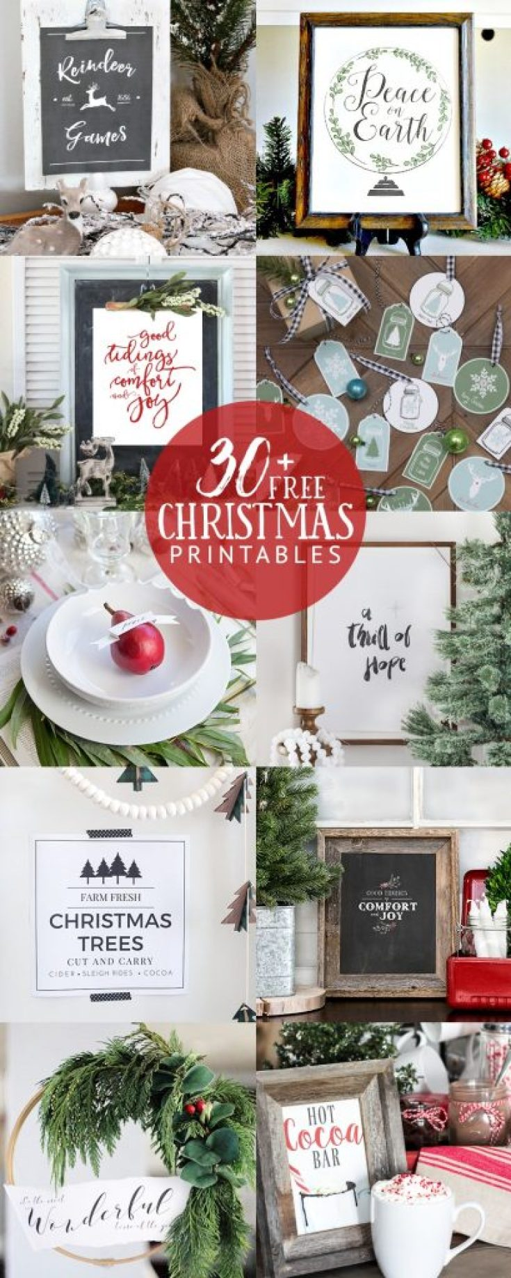 plaid-christmas-tag-printable-30 Free Christmas Printables