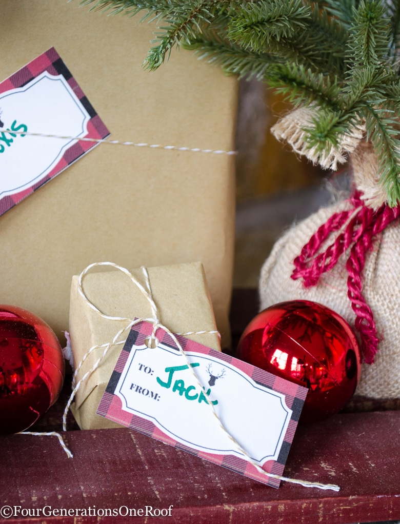 plaid-christmas-tag-printable-40 Free Christmas Printables