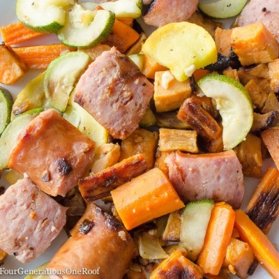 Roasted Kielbasa + Vegetables