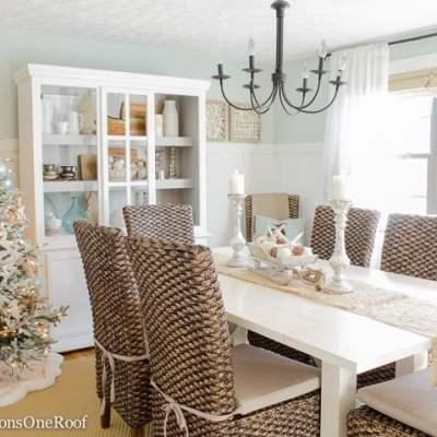 Blue + White Coastal Christmas Tree