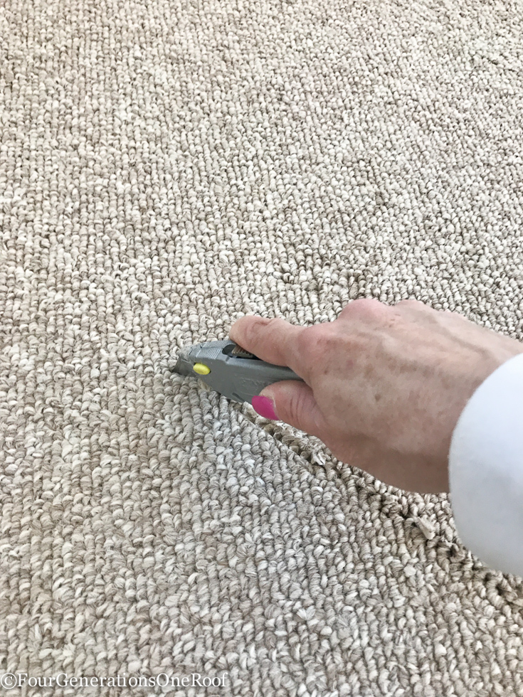 how to remove carpet + prep for hardwood floor