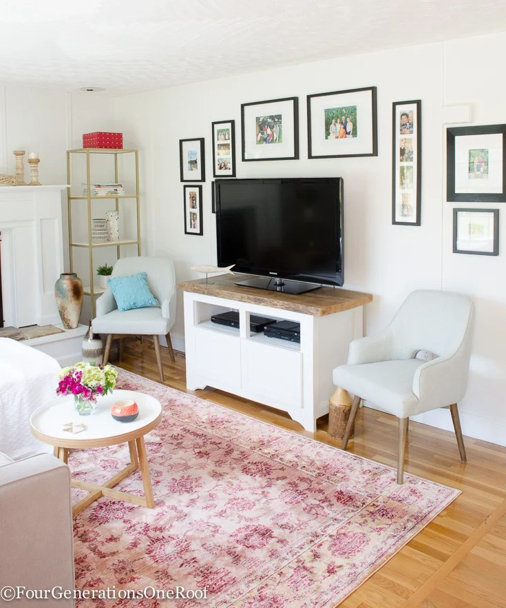 Summer Navy + Pink + Coral styling tips   Shades of Summer Home Tour