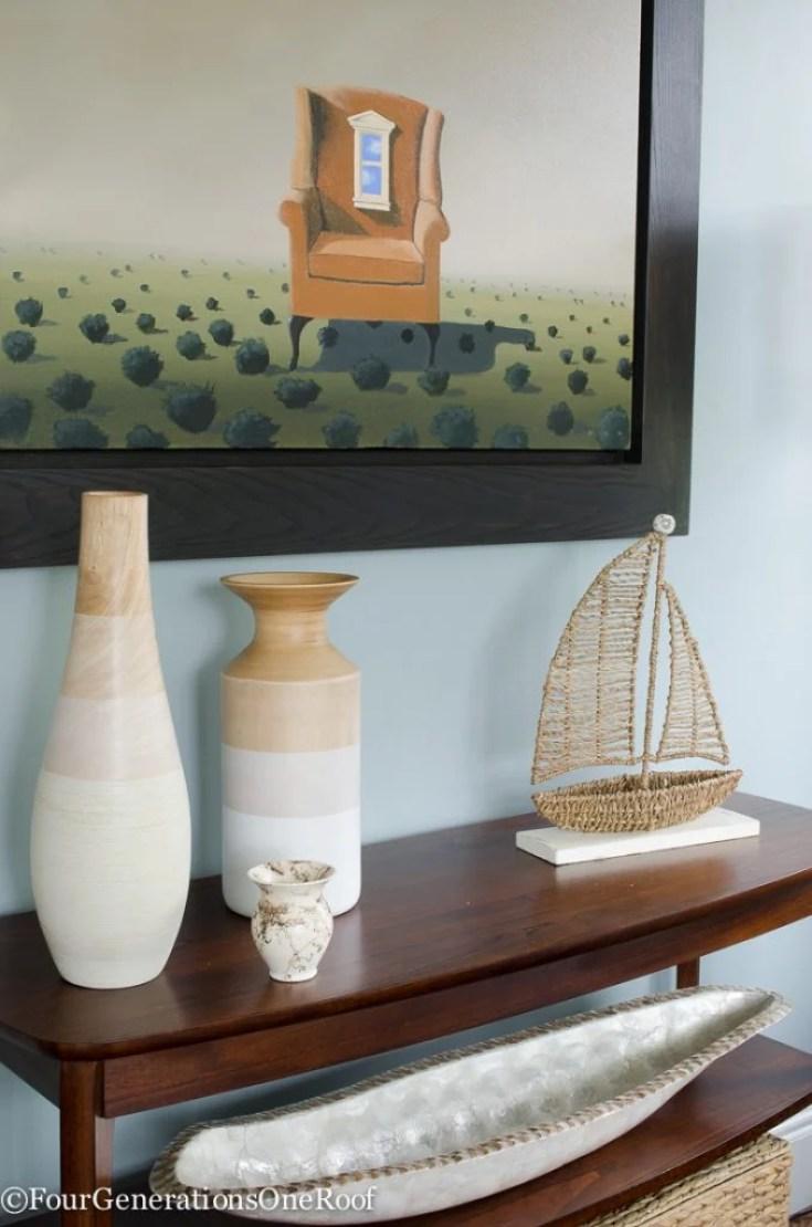 Coastal Pottery Barn Living Room on a Budget