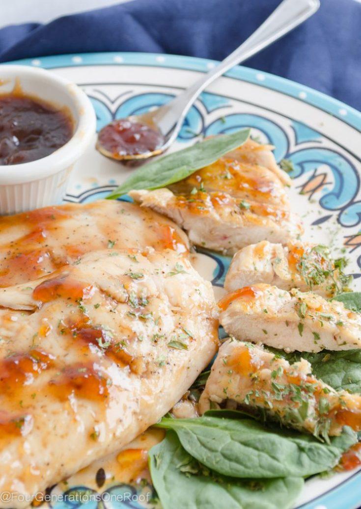 Kid-Friendly Orange Glazed Chicken Dinner