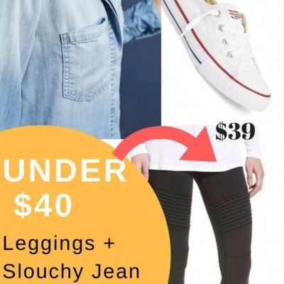 Slouchy Jean Shirt and Leggings under $40