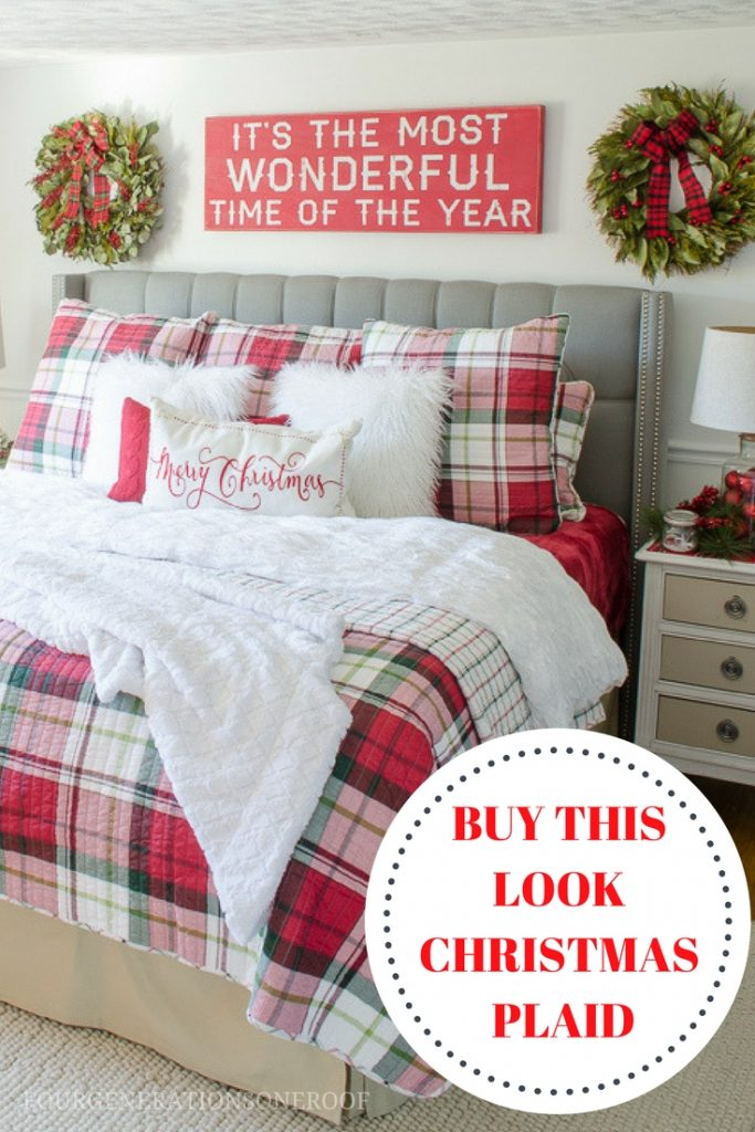 Buy Christmas Plaid Bedding Now