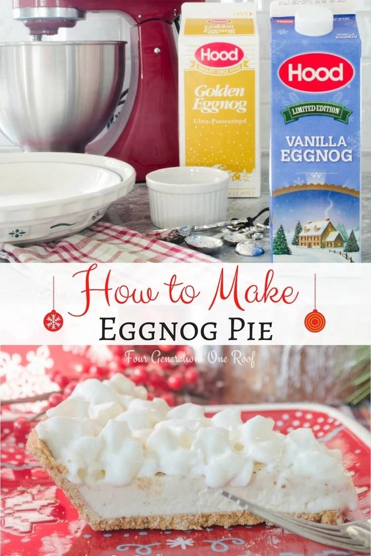 How to Make Eggnog Pie