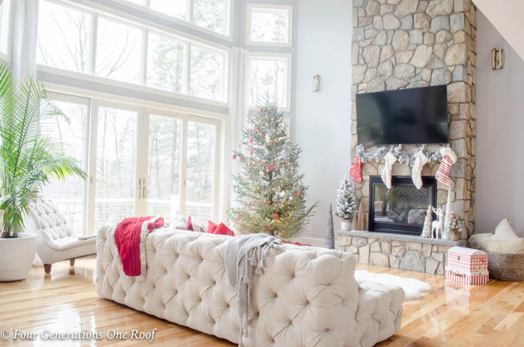 How To Hang Christmas Stockings Around A Tv Four Generations One Roof