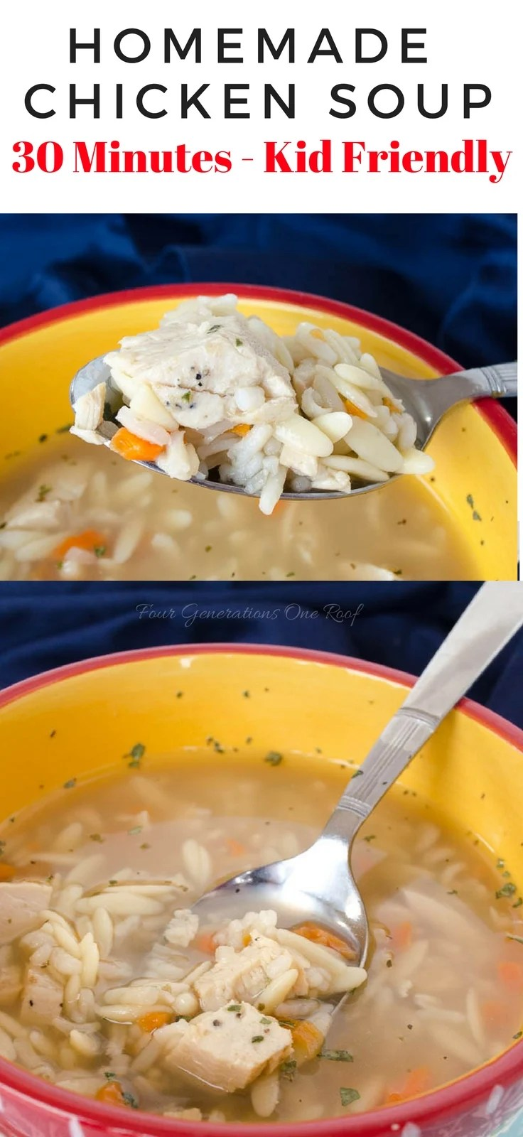 Kid 30 Minute Homemade Chicken Soup