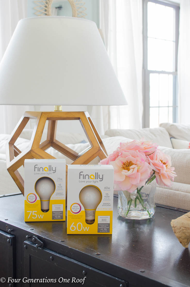 Let the light shine- Easy Lighting Updates Using Finally Bulbs