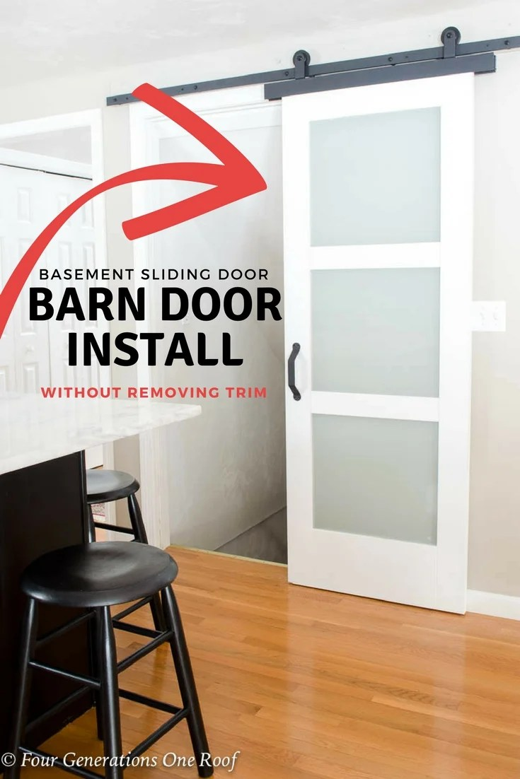 Barn Door Installation Without Removing Door Trim