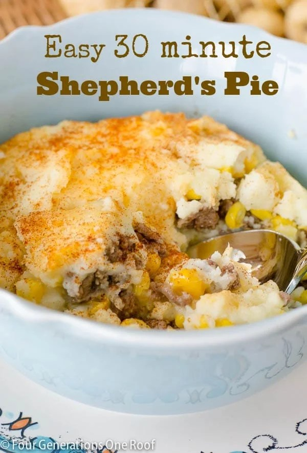 30 minute shepherd's pie easy recipe