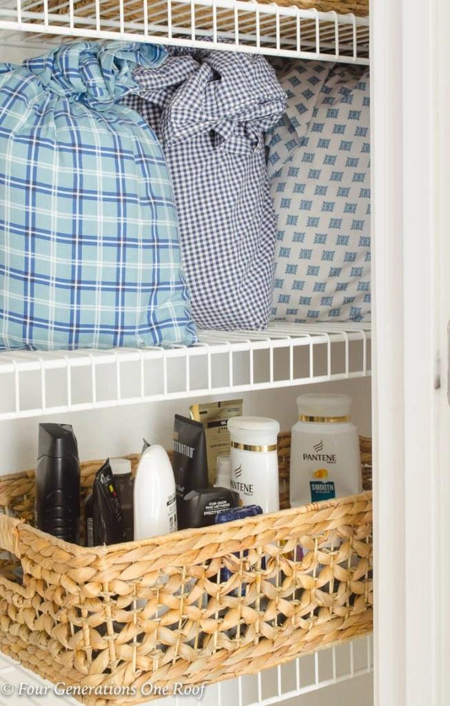Bed Sheet Organization|Store Bed Sheets in a Pillowcase| Linen Closet Organization