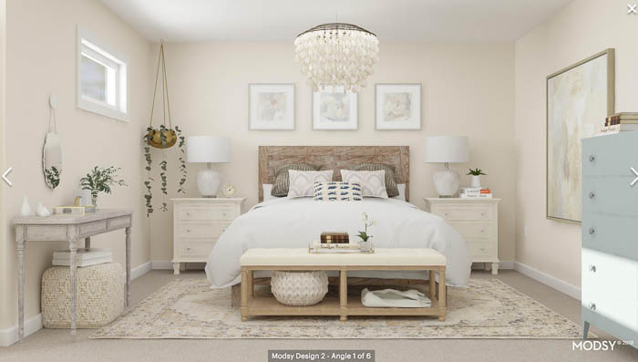 Warm Rustic Bedroom My Bedroom Makeover 3D Floor Plan Design by Modsy