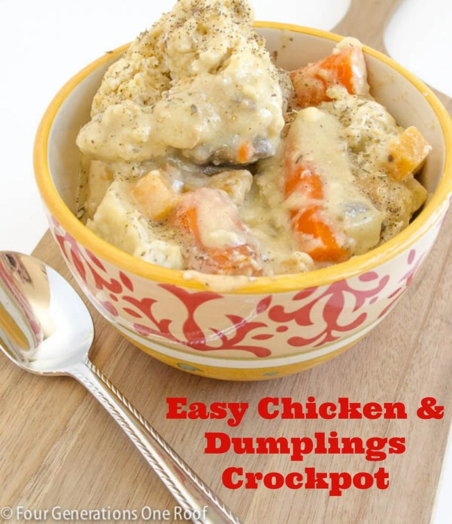 chicken and dumplings easy crockpot recipe