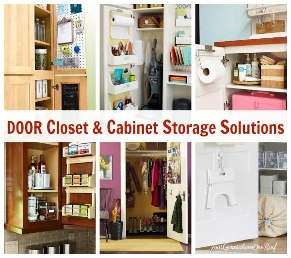 Cabinet Door STorage ideas | Hanging door racks for small cabinet doors |