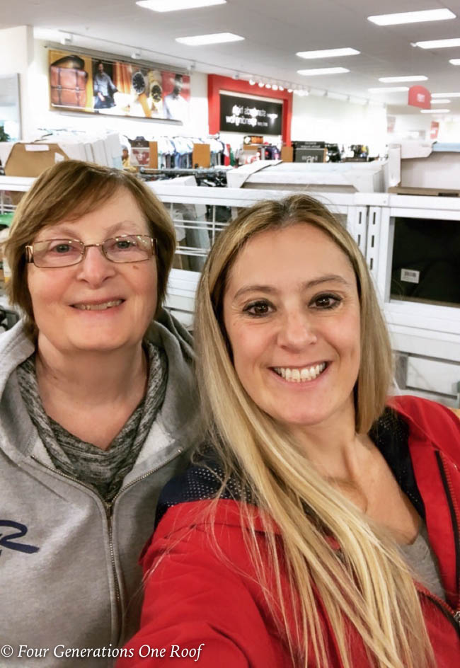 Multigenerational Family, mother daughter shopping day, jessica bruno and her mom shopping at HomeGoods