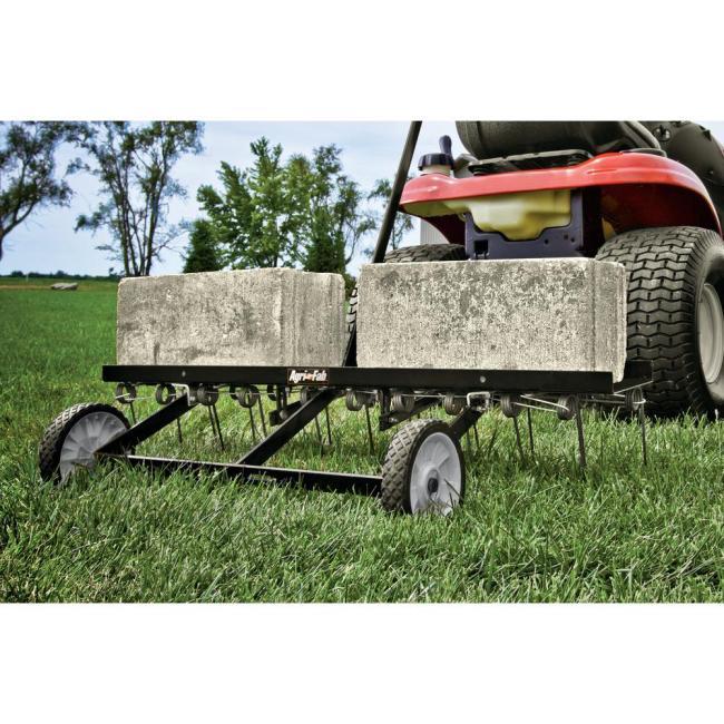 lawn mower dethatcher attachment
