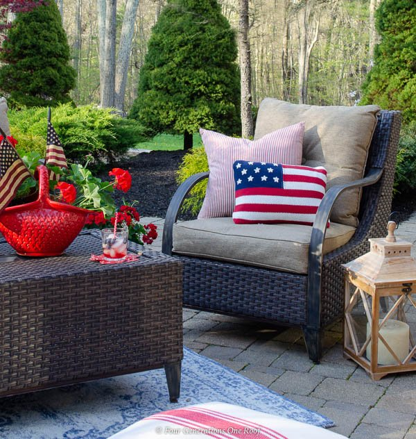 Classy Patriotic Decor Ideas On Our Patio Four Generations