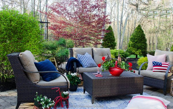 Classy Patriotic Decor Ideas On Our Patio Four