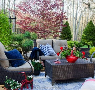 Classy Patriotic Decor Ideas on our Patio