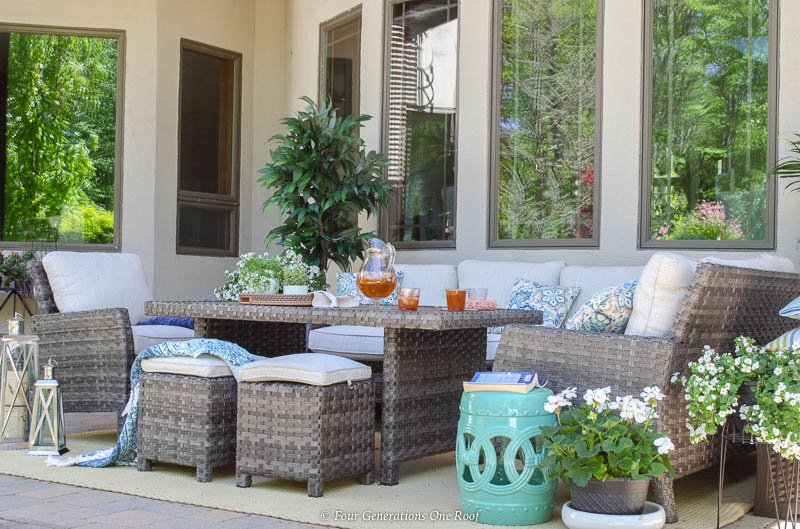 Large Family indoor outdoor living space surrounded by ... on Indoor Outdoor Living Spaces id=98922